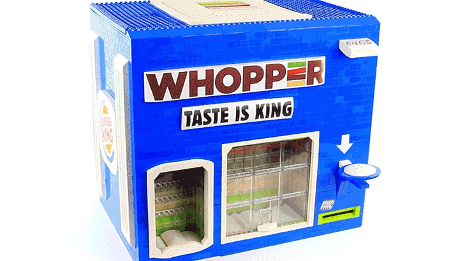 Beverage Dispensing Burger King Vending Machine Is A Lego Masterpiece