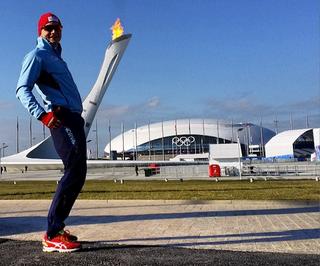 Illustration for article titled Norwegian Speedskater Captures Majesty Of Olympic Flame