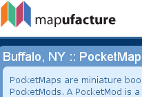 Illustration for article titled Mapufacture Creates Small, PocketMod-Compatible Maps
