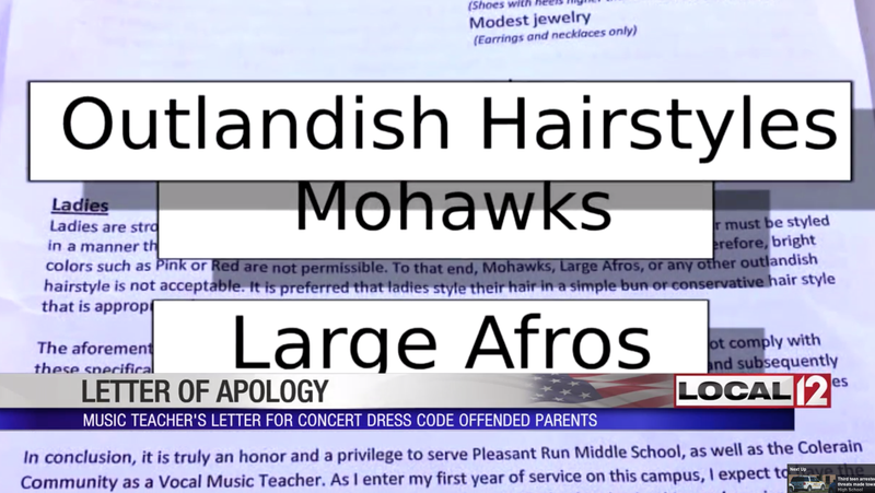 Illustration for article titled Teacher Apologizes After Banning Afros, Other 'Outlandish Hairstyles' From Student Concert