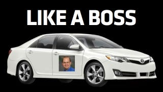 Illustration for article titled Random Beige Guy's Toyota Camry Handles Things 'Like A Boss'