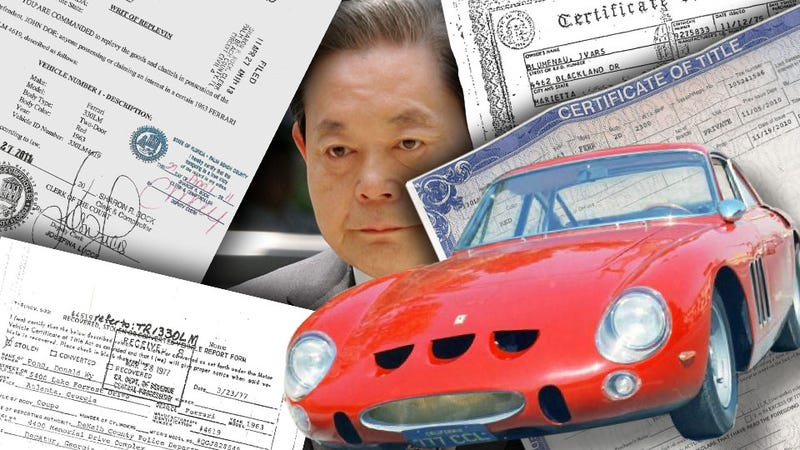 Illustration for article titled Does The Billionaire Chairman Of Samsung Own A Stolen $15 Million Ferrari?