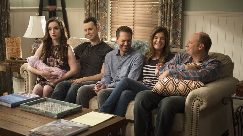 Zoe Lister Jones, Colin Hanks, Thomas Sadoski, Betsy Brandt, Dan Bakkedahl (CBS)