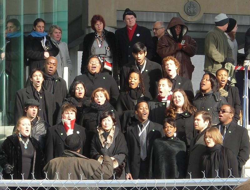 An Inauguration choir:  One of the high points