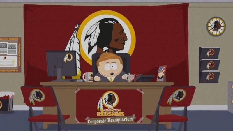 Illustration for article titled South Park mocks Washington Redskins during Redskins game