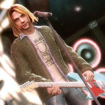 Illustration for article titled Courtney Love Now Says Cobain Would've Been Cool With Guitar Hero 5