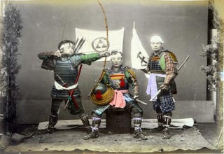 Illustration for article titled Samurai, Gardens, and Crowded Streets: Photographing 1880s Japan In Technicolor