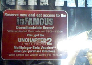 Illustration for article titled inFamous Shocks Us With Uncharted 2 Multiplayer Beta