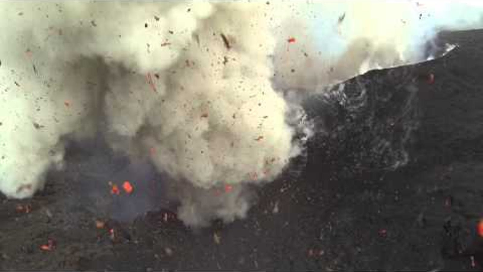This Drone Footage of an Erupting Volcano Is Absolutely Nuts