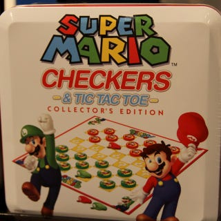 Illustration for article titled Mario Checkers, Mario RC Cars, Mario Memory Game??
