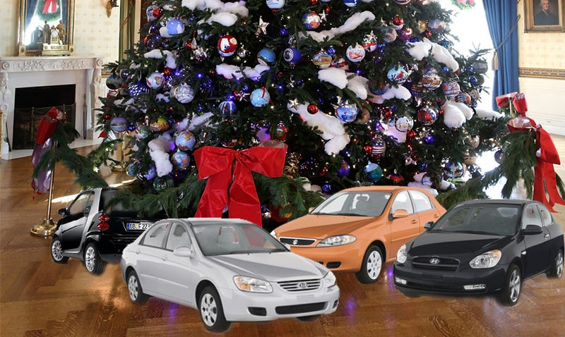 Illustration for article titled Ten New Cars Cheap Enough To Gift This Holiday