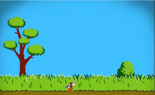 Smash 4's Duck Hunt stage
