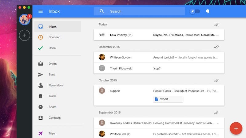 Wmail Is a Free OS X Desktop App for Inbox by Gmail