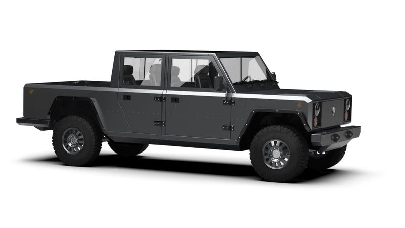 The Bollinger B2 is a Boxy Electric Pickup That Can That Can Haul Ridiculously Long Things