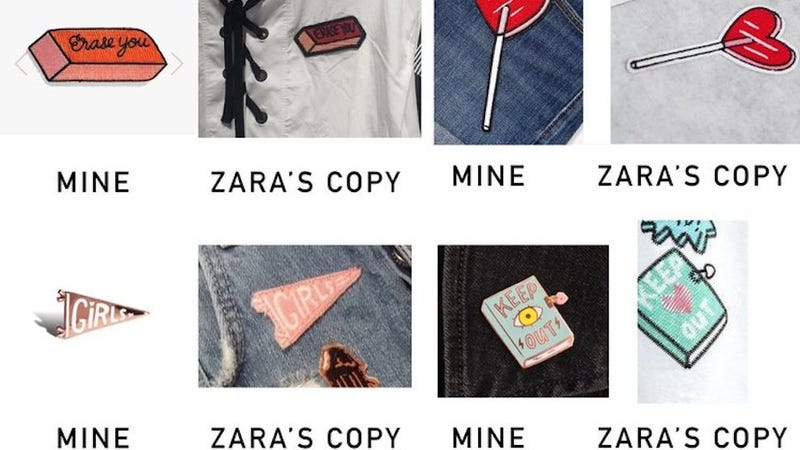 Illustration for article titled Zara Copies Indie Artist's Work, Then Says She's Not Famous Enough For It to Matter