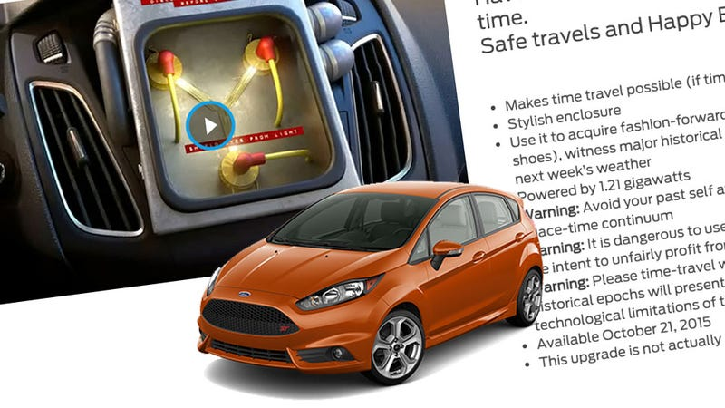 Illustration for article titled Ford Is Offering An Optional Flux Capacitor When You Build A Focus Or Fiesta