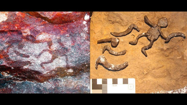 Miniature Rock Art Found in Australia May Have Been Stenciled by Children