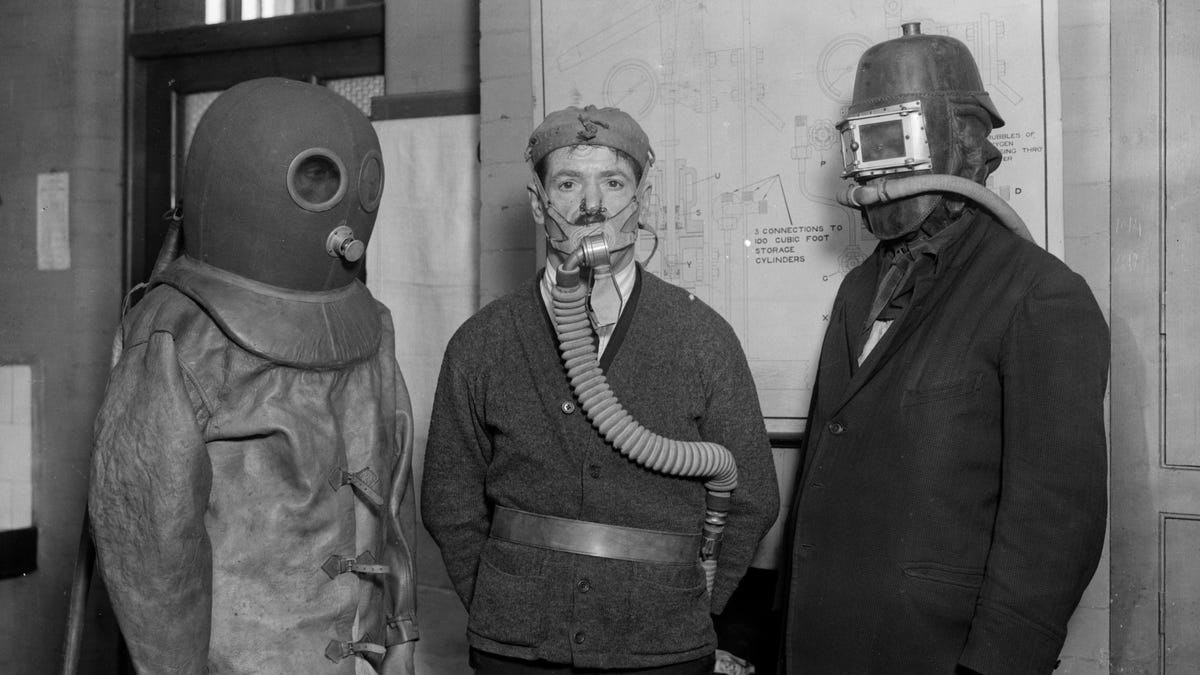 who invented the gas mask in 1914