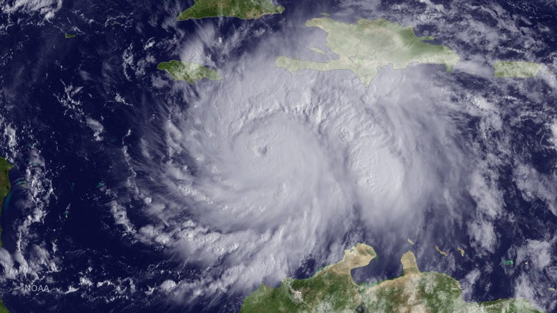 The GOES East satellite captured this image of Hurricane Matthew approximately 220 miles southeast of Kingston on October 3rd. Image: NOAA