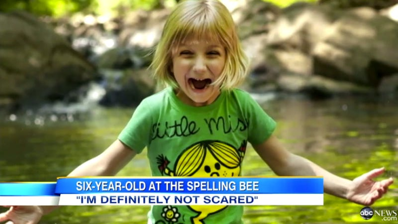 Illustration for article titled 6-Year-Old Girl Preps for Scripps Spelling Bee Debut as Youngest Contestant Ever