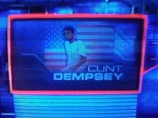 Illustration for article titled ESPN Gives Clint Dempsey Unfortunate Nickname