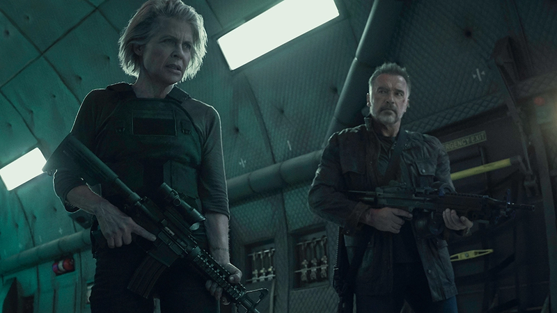 Sarah Connor and her ol' friend, the Terminator.