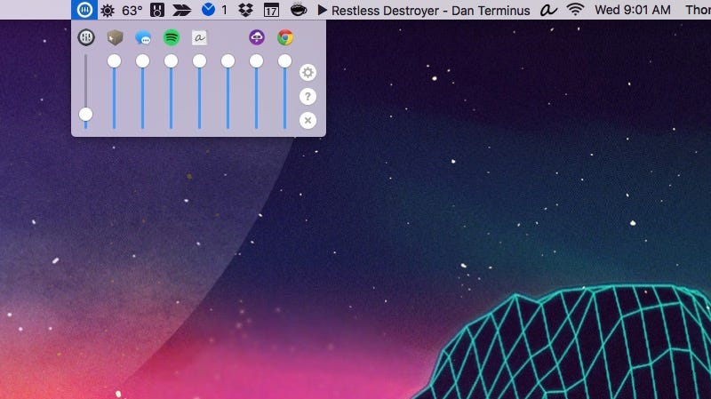 Illustration for article titled Volume Mixer Is an Application Specific Volume Controller for Mac