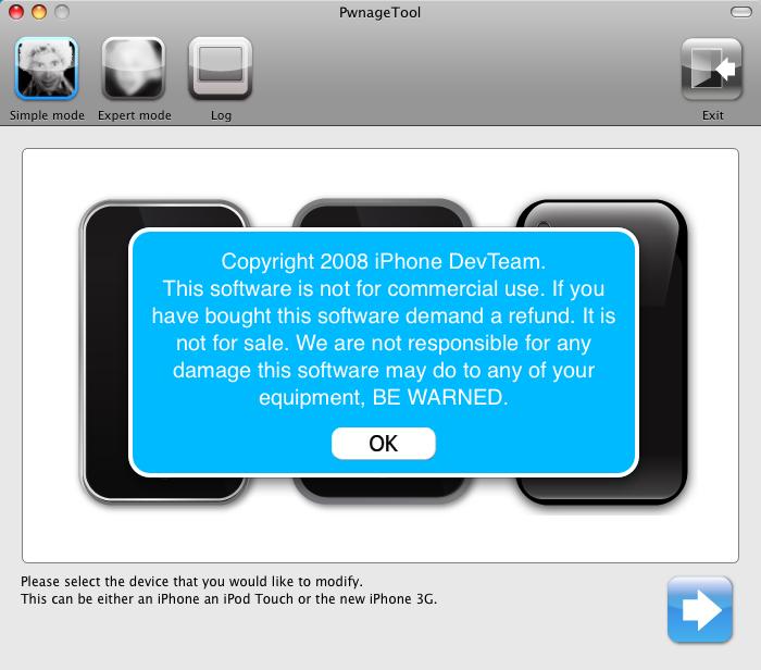 Jailbreak iPhone 2 0 with PwnageTool