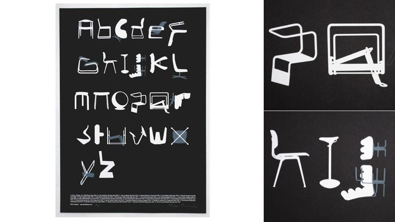 Illustration for article titled Chair-Themed Typography For Furniture Fetishists