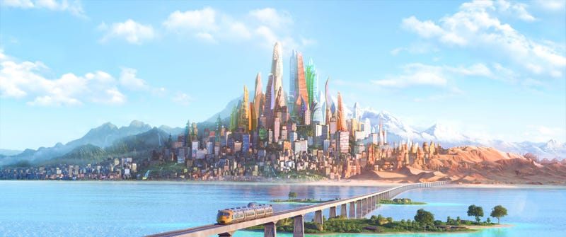 Illustration for article titled This BeautifulZootopia Concept Art Explains How All Animals Live Together In One City