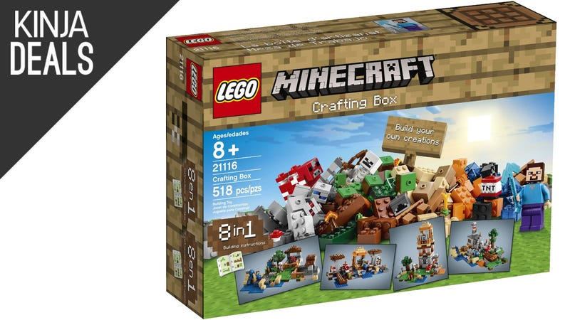 Illustration for article titled Play Minecraft IRL With This LEGO Crafting Box