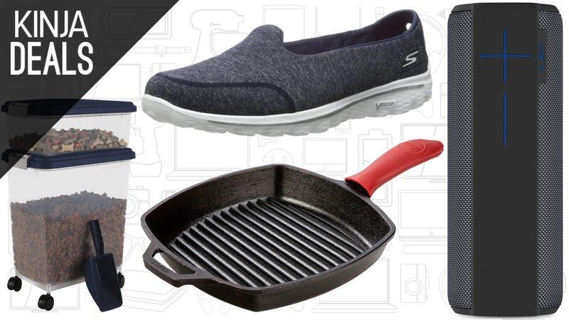 Illustration for article titled Today's Best Deals: UE Megaboom, Skechers Shoes, Pet Food Storage, and More