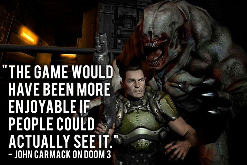 Illustration for article titled A Bright Idea For Doom 3 That Comes A Little Too Late