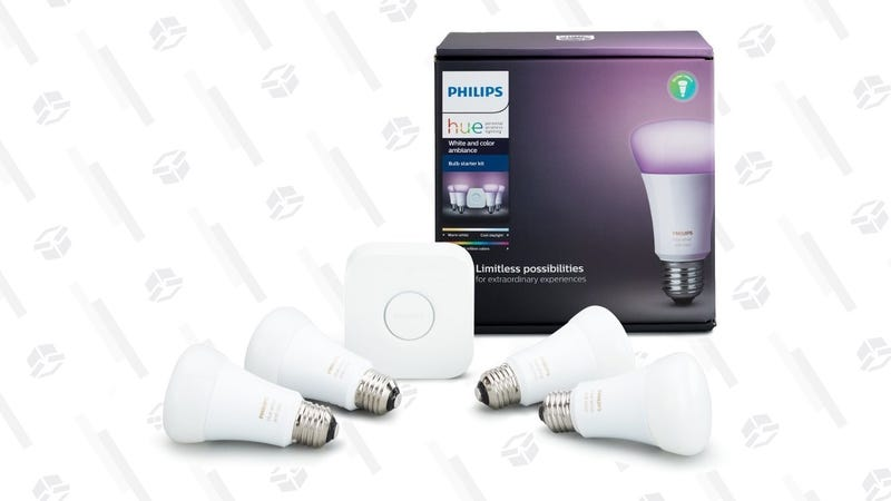 Philips Hue White and Color Ambiance Starter Kit | $140 | Amazon | Clip the $1.62 coupon