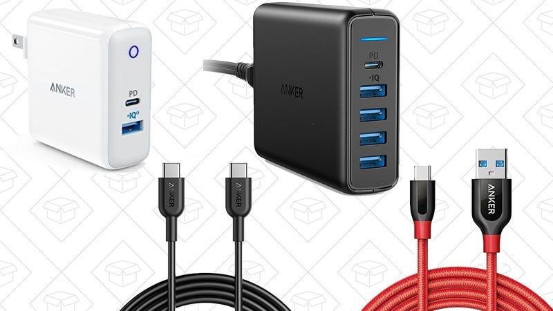 Anker PowerPort II with Power Delivery | $25 | Amazon | Promo code ANKEBESTAnker PowerPort Premium with Power Delivery | $38 | Amazon | Promo code ANKEBESTAnker PowerLine II USB-C to C 3' Cable | $7 | Amazon | Promo code ANKEBESTAnker PowerLine II USB-C to C 6' Cable | $8 | Amazon | Promo code ANKEBESTAnker PowerLine+ USB 3.0 to USB-C Cable | $10 | Amazon | Promo code ANKEBEST