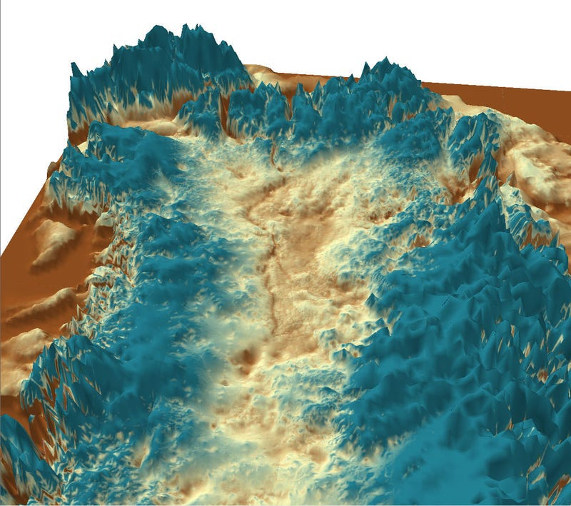 Illustration for article titled Enormous canyon discovered lurking beneath Greenland's ice sheet