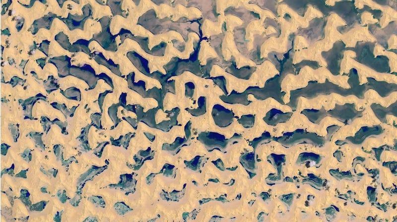 Satellite image of Rub' al-Khali (Empty Quarter) on May 29, 2018.