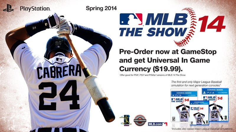 Illustration for article titled MLB  14 The Show on PS4 is the Only Next-Gen Baseball Game