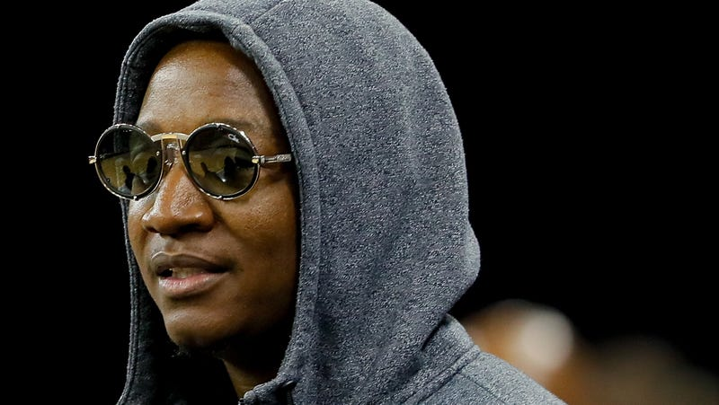 Young Joc looks on during week eight of the BIG3 three on three basketball league on August 10, 2018 in Duluth, Georgia. Photo: Kevin C. Cox (Getty Images)