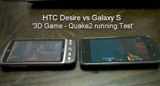 Illustration for article titled Quake 2 Test: HTC Desire Vs. Samsung Galaxy S