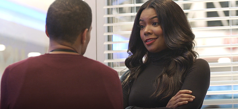Mary Jane (Gabrielle Union) mixing it up with Justin (Michael Ealy) ... again (BET)
