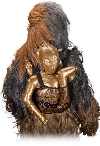 Illustration for article titled C-3PO Backpack Makes for World's Most Obnoxious iPad Case