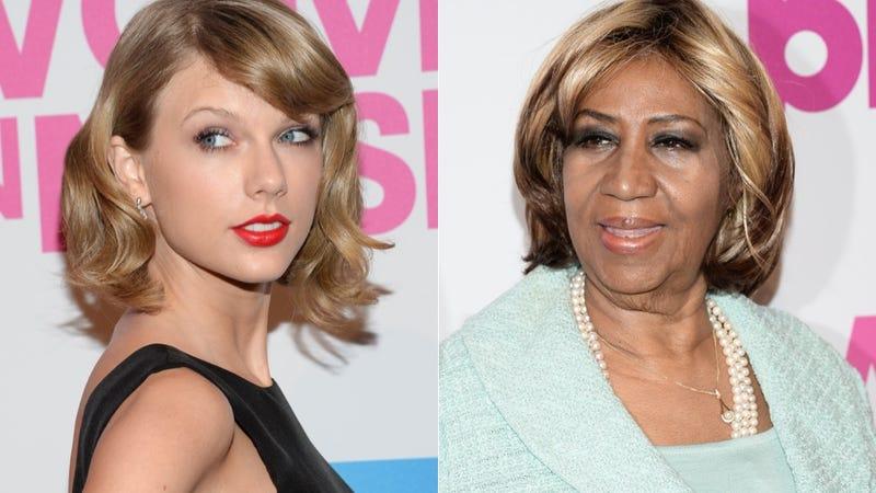 Illustration for article titled Aretha Franklin Serenades Taylor Swift