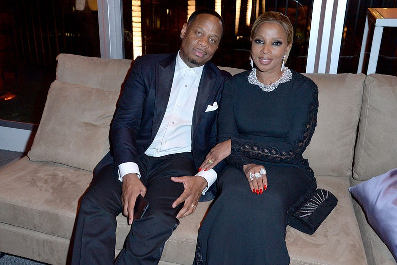 Kendu Isaacs and Mary J. Blige attend the 2016 Vanity Fair Oscar Party on Feb. 28, 2016, in Beverly Hills, Calif. Jeff Vespa/VF16/WireImage