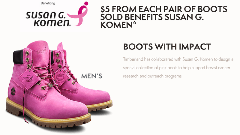 Illustration for article titled These Bright Pink Timbs Will Blind You With Breast Cancer Awareness