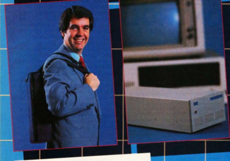 Cropped photos from a 1985 ad for a 20MB portable hard drive made by Maynard (Byte magazine/Internet Archive)