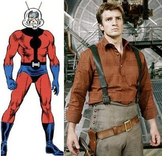 Illustration for article titled Nathan Fillion To Play Ant-Man? We're Not Getting Our Hopes Up