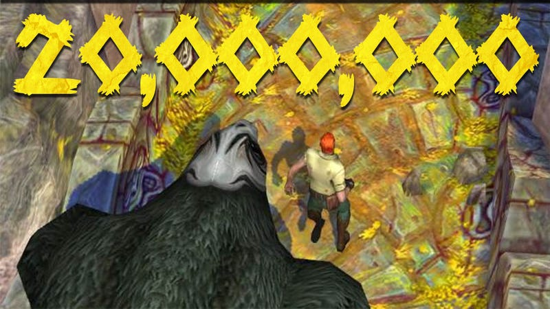 Illustration for article titled In Four Days Temple Run 2 Has Been Downloaded 20 Million Times