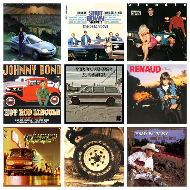 Cars On Album Covers