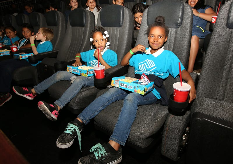 Boys & Girls Club Long Beach members received the celebrity treatment with concessions and more during an advance Imax screening of Black Panther on Feb. 15, 2018, in Long Beach, Calif.